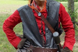 You'll notice here that I lace my shirt down, not up, in order to avoid it getting caught on my armor. I also removed the buttons from my sleeve cuffs to give the sleeves a more open swashbuckling appearance.